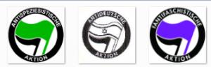 abgewandelte Antifa-Logos