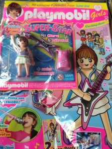 Girl in a band but also Girl prepared for Casting Shows ... Playmobil Girls Magazin, Nr. 2/15