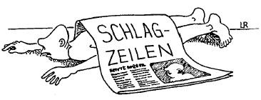 schlagzeilen, zeitung, medienkritik