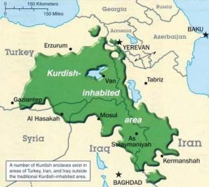 Die kurdischen Gebiete